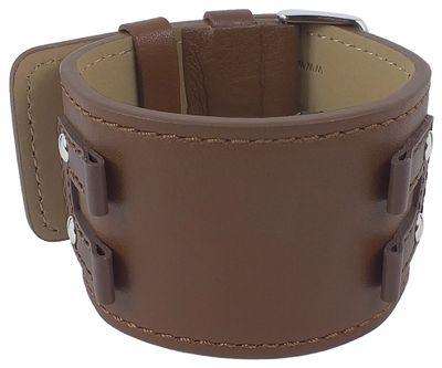 Bruno Banani Uhrenarmband | Leder braun XL für XR4 Rectangular BR20922 – Bild 1