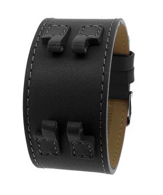 Bruno Banani ZENO ► Uhrenarmband Leder schwarz glatt BR20988 BR20987  – Bild 2