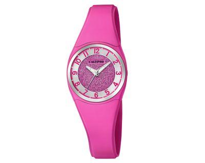 Calypso Kinderuhr | Analoguhr für Mädchen Kunststoff | pink K5752/5