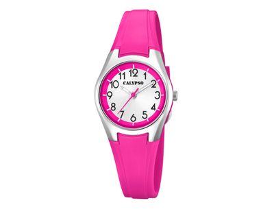 Calypso Kinderuhr | Analoguhr für Mädchen Kunststoff | pink K5750/2