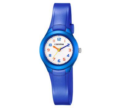 Calypso Kinderuhr | Analoge Armbanduhr Kunststoffband | blau K5749/6