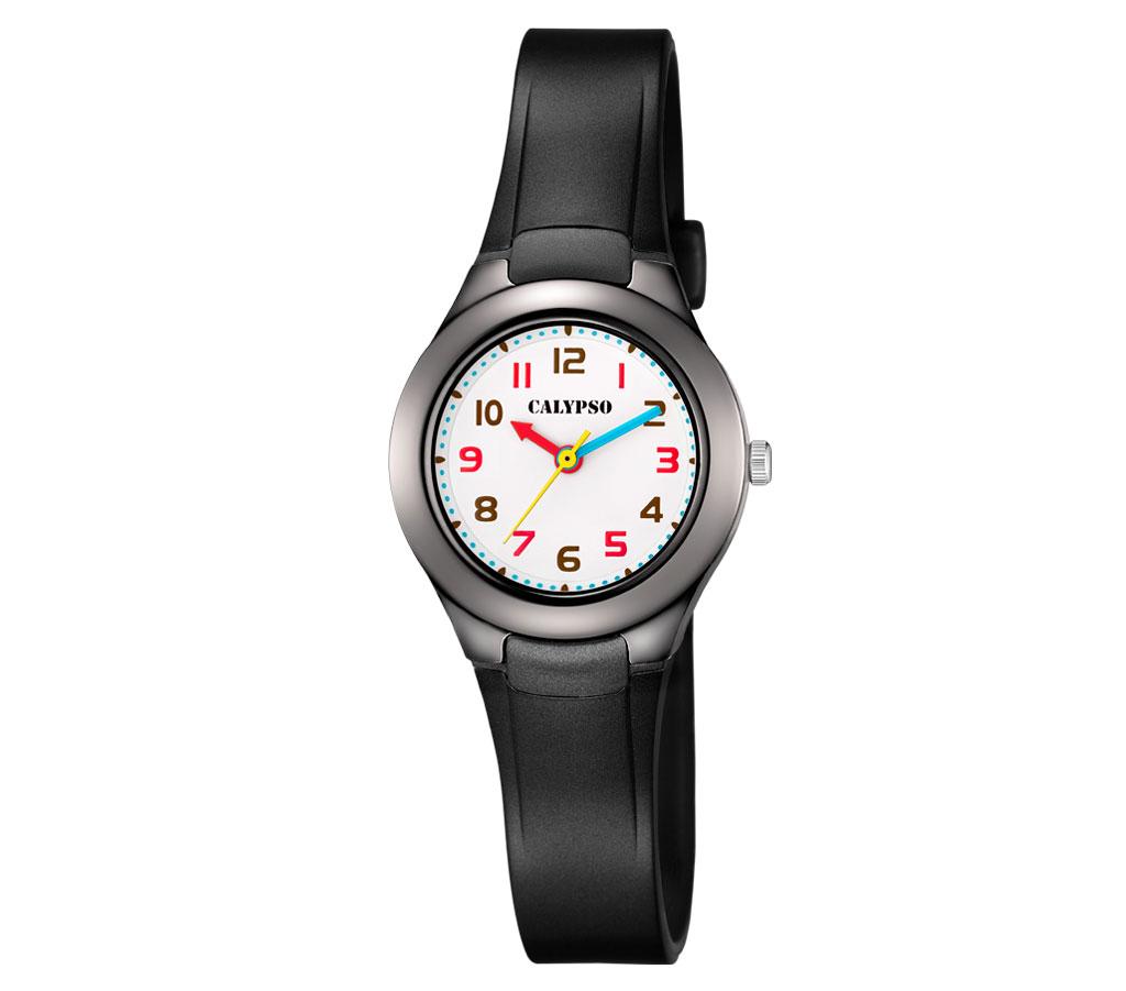 calypso kinderuhr   armbanduhr analog kunststoffband   schwarz k5749/8
