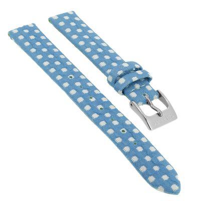 Calypso ♦ Uhrenarmband 13mm Textil/Leder blau ♦ für Kinderuhr K5713/5