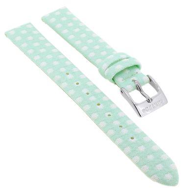 Calypso → Uhrenarmband 13mm Textil/Leder mint → für Kinderuhr K5713/5