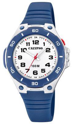 Calypso Kinderuhr | analog mit Licht Leuchtzeiger dunkelblau K5758/2