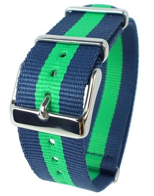 Timex Weekender Indiglo | Durchzugsband 20mm blau/grün ♦ TW2P90800 – Bild 2