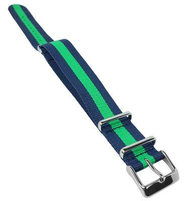 Timex Weekender Indiglo | Durchzugsband 20mm blau/grün ♦ TW2P90800 – Bild 1