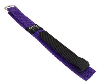 Minott Uhrenarmband 14mm Klettband Kinder lila Textillgewebe 33878