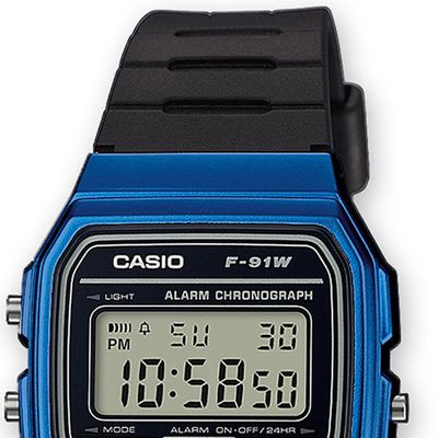 Casio Collection Uhr | Digital Tagesalarm aus Resin F-91WM-2AEF – Bild 2
