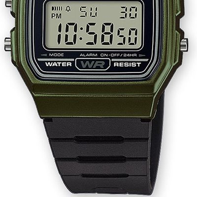 Casio Collection Uhr | Digital Tagesalarm aus Resin F-91WM-3AEF – Bild 3