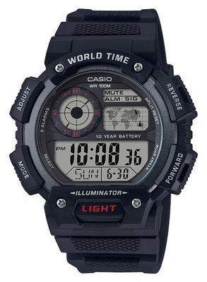 Casio Collection Uhr | Digital mit 5 Tagesalarme aus Resin AE-1400WH-1AVEF