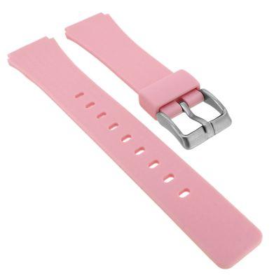 Calypso ⇔ Uhrenarmband aus Silikon in rosa Schließe silbern ⇔ K5743/3