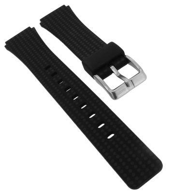 Calypso Uhrenarmband aus Silikon in schwarz Schließe silbern ► K5743/6