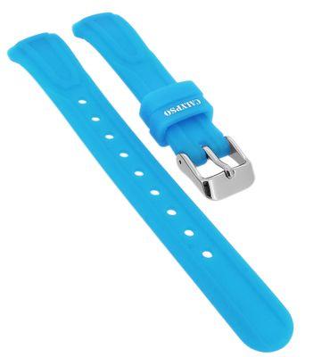 Calypso ► Uhrenarmband in blau aus Silikon Schließe silbern ► K6070/3 – Bild 1