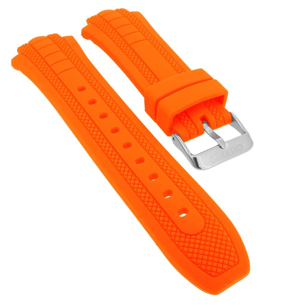 Calypso → Uhrenarmband in orange Kautschuk Schließe silbern → K5761 5 a720ca1d10d