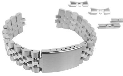 Uhrenarmband 20mm | Edelstahl silbern | passend für RLX Uhren 34190 – Bild 4