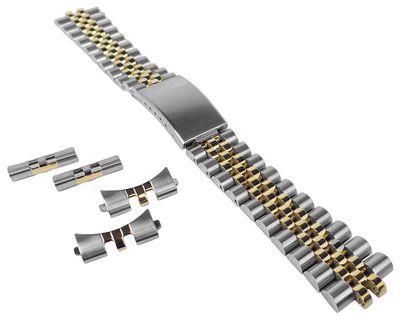 Uhrenarmband 20mm   Edelstahl bicolor   passend für RLX Uhren 34196 – Bild 1