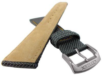 Citizen Eco Drive ► Uhrenarmband Textil grau mit Naht 22mm CA0130-23A – Bild 2