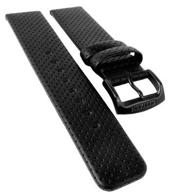 Citizen Eco Drive | Uhrenarmband 20mm aus Leder schwarz | AW0015-08EE – Bild 1