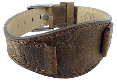 s.Oliver Unterlageband 16mm Uhrenarmband aus Leder braun > SO-1873-LQ – Bild 1