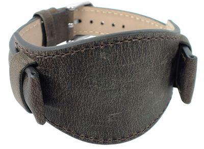 s.Oliver | Unterlageband Leder braun 16mm Used-Look glatt SO-3167-LQ – Bild 2