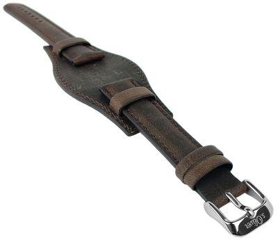 s.Oliver | Unterlageband Leder braun 16mm Used-Look glatt SO-3167-LQ – Bild 1