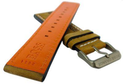 Hugo Boss Orange | Uhrenarmband 24mm Leder braun | 1513240  – Bild 2