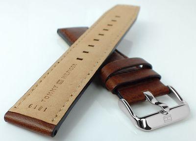 Tommy Hilfiger > Uhrenarmband 22mm braun Leder mit Naht < 1791137 – Bild 2