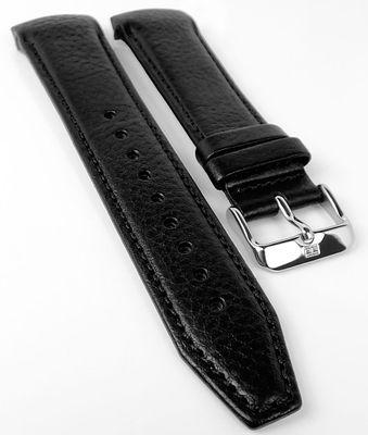 Tommy Hilfiger Uhrenarmband mit Ton in Ton Naht schwarz Leder 1791268 – Bild 1