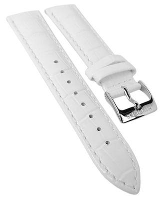 Tommy Hilfiger Uhrenarmband 18mm mit Krokoprägung weiß Leder ► 1781009 – Bild 1