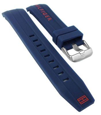 Tommy Hilfiger Nolan Uhrenarmband blau Silikon runder Anstoß → 1791142 – Bild 1