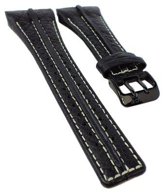 Police P-Matrix Uhrenarmband 32mm Leder schwarz mit Naht 10812JSB/02B – Bild 1
