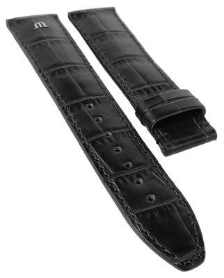 ML Pontos | Uhrenarmband Kalbsleder Kroko Imitat | schwarz 34556 – Bild 2