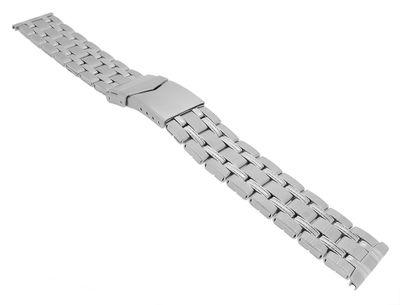 Minott → Uhrenarmband 20mm silberfarben Edelstahlband → 34563S – Bild 1