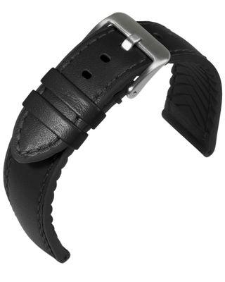 Eulit Eutec Uhrenarmband schwarz Materialmix versiegelte Kante 34617
