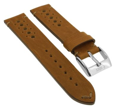 Eulux ⇒ Uhrenarmband Pferdeleder braun versiegelte Kante ⇒ 34632 – Bild 1