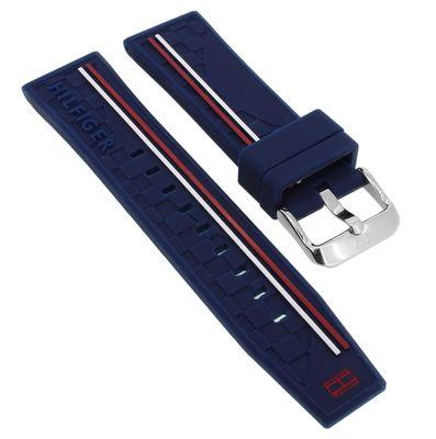 Tommy Hilfiger Multifunktion Uhrenarmband 22mm blau Silikon ► 1791476 – Bild 1