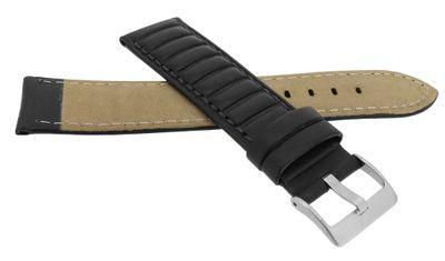 Eulit Sailwing Uhrenarmband Querprägung Rindleder schwarz ⇒ 34776 – Bild 2