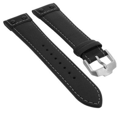 Junghans Meister Pilot → Uhrenarmband 22mm Leder schwarz → 027/3590 – Bild 1