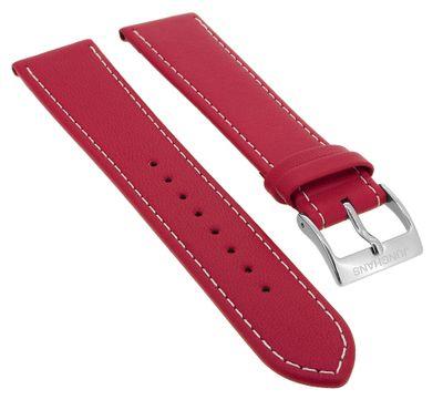 Junghans Meister Driver Uhrenarmband 20mm Leder rot mit Naht 027/4716 – Bild 1