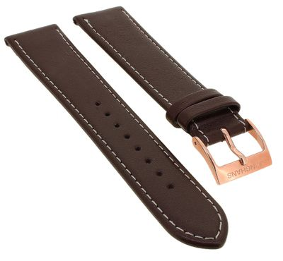 Junghans Meister ⇒ Uhrenarmband 20mm Leder braun mit Naht ⇒ 027/7710 – Bild 1