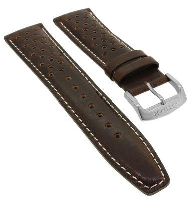 Citizen Eco Drive Chronograph ♦ Uhrenarmband 22mm Leder braun ♦ CA0641 – Bild 1