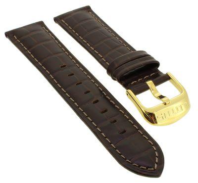 Lotus Multifunktion > Uhrenarmband 22mm Leder braun helle Naht < 15761 – Bild 1