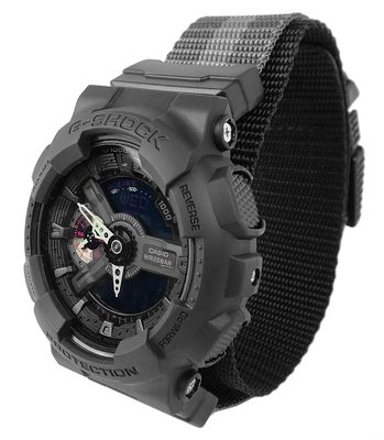 Herrenuhr analog-digital Casio G-Shock mit Textilband GA-110MBV-1AER – Bild 1