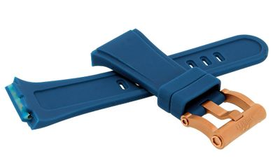 TW STEEL Uhrenarmband Ersatzband Silikon blau Spezial Anstoß CEB4019  – Bild 2