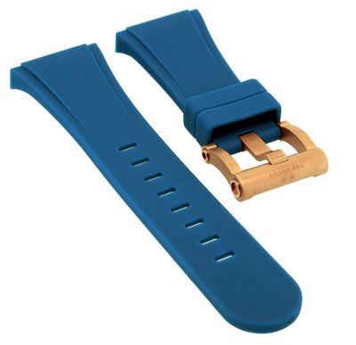 TW STEEL Uhrenarmband Ersatzband Silikon blau Spezial Anstoß CEB4019  – Bild 1