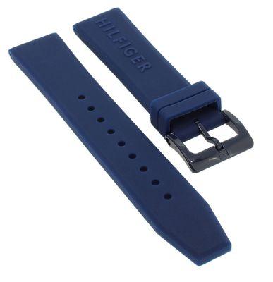 Tommy Hilfiger → Uhrenarmband 20mm 679302004 blau Silikon → 1791322  – Bild 1