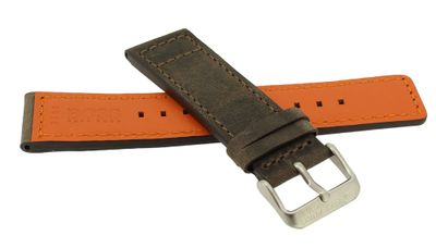 Hugo Boss Orange > Uhrenarmband 24mm > Leder braun > 1513351 – Bild 2