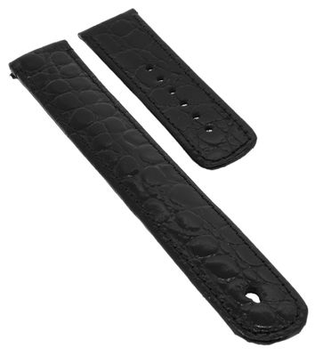 Junghans Uhrenarmband 20mm Leder schwarz → 025/4300 025/4220 025/4302 – Bild 1