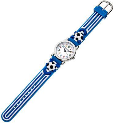 Eichmüller | Kinderuhr analog blau Edelstahl Fußball Silikon | 34974 – Bild 1